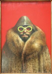Fur Coat and Sunglasses 49 x 34cm