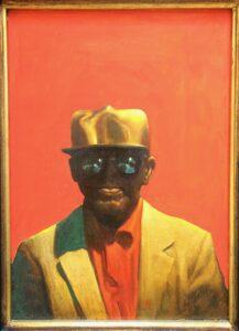 Man in the Golden Hat 26 x 36cm